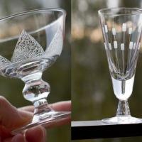 Två fina glas - men var kommer de ifrån?