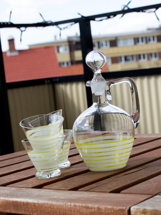 Glaskaraff & dricksglas